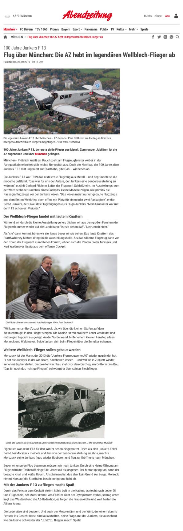 Abendzeitung JunkersF