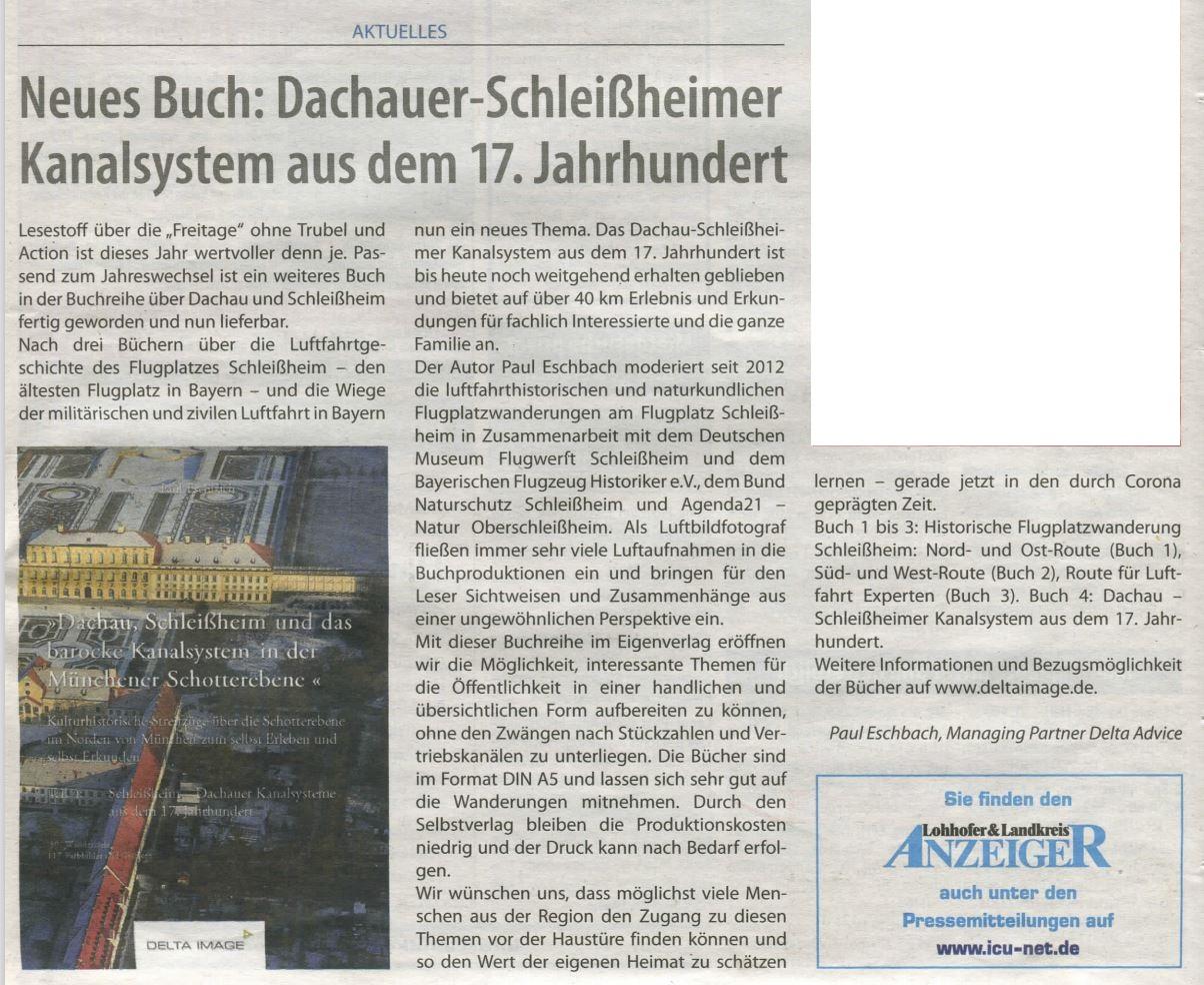 Lohhofer Anzeiger Buch  Kanalsystem