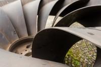 Ein Laufrad einer Francis Turbine