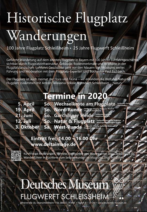 Plakat Deutsches Museum Flugplatzwanderungen