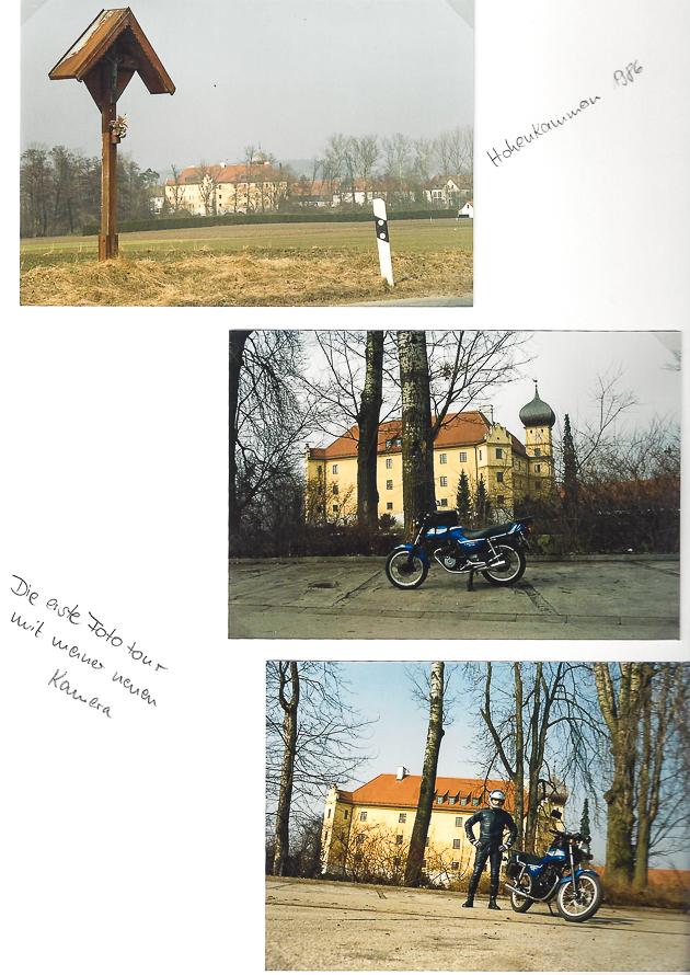 Scan aus Fotoalbum erste Ausfahrt mit Kamera OM nach Hohenkammer