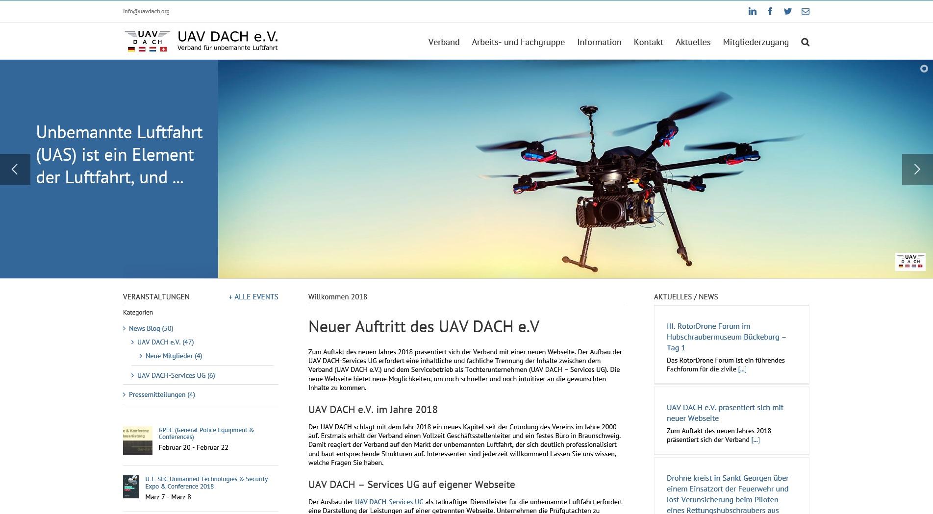 UAV DACH Webseite 2018